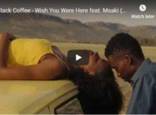 Black Coffee Wish You Were Here Video ft. Msaki mp4 full download