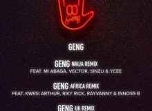 Mayorkun – Geng (Africa Remix) ft. Riky Rick, Kwesi Arthur, Rayvanny, Innoss'B mp3 download